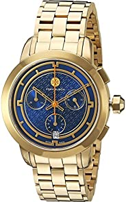Tory Burch Women's Quartz Watch With Silver 37 Mm Stainless Steel Swiss Quartz Bracelet Trb1013, Analog Di
