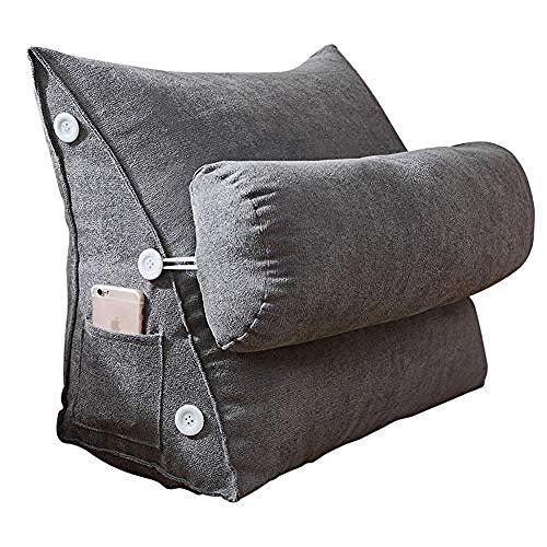 CHERRIES Almohada de cuña Nordic Simple Korean Velvet Triangle Pillow Flex Back...