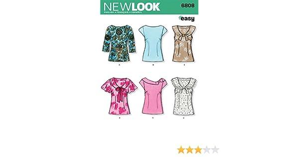 New Look Schnittmuster Nr. 6808 Oberteile für Damen, Kleidergrößen ...