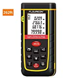 Laser Distance Meter 80m 262ft, FLOUREON Digital Laser Distance Measure Device Handheld Laser Measure Tape Tool for Length Area Volume in m/in/ft with High Accuracy of ±0.08 inch, Battery Included