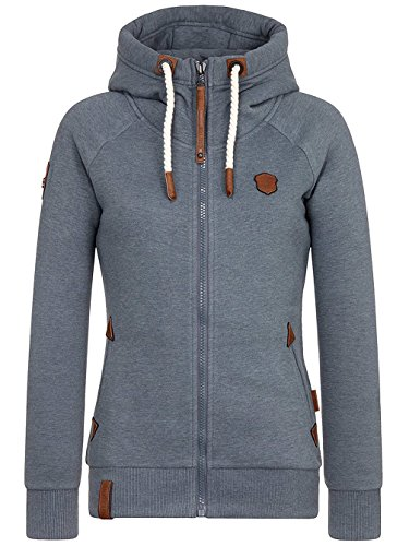 Naketano Female Hoody Blonder Engel IV dark ash melange