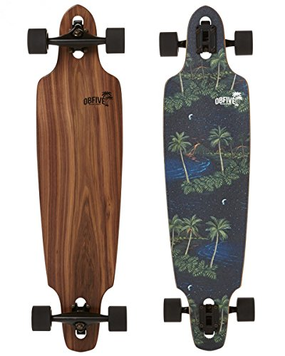 de3c703407 OBFIVE Black Flamingo 96.52 cm Drop Through Longboard