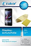 Ecultor I 6X Schutzfolie klar passend für Sony Xperia Z1 Compact Folie Displayschutzfolie (3X Vorder- & 3X Rückseite)