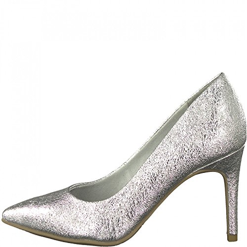 Tamaris Pumps 1-22427-20 Metallic High Heels Cracked-Optik, Schuhgröße:37;Farbe:Silber