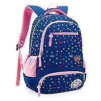 Comfysail Primary School Student Satchel Nylon Kids Backpack Flower Printed  Girls Rucksack-Ideal for 1 e5b885441c59a