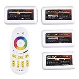 Mi-Light von Remote Control Kit: 4 x 2.4G 4-Zone LED RGBW RF Wireless Controller with 1 x RF Wireless 4-Zone LED RGBW Remote Control in Pack