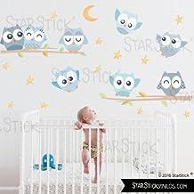 StarStick - Búhos Suaves niño - Vinilos infantiles