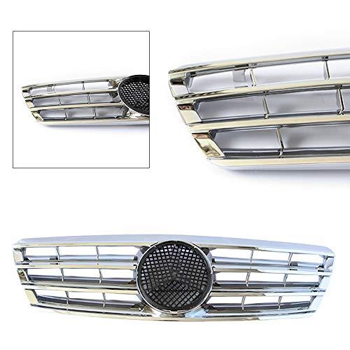 Piaobaige Parrilla Delantera del Coche, para Mercedes Benz W203 C280 C320 C240   C200 C180 C200 C260 C63 2000 2001 2002 2003 2004 2005 2006 ABS