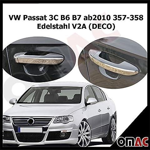 VW Passat 3C B6B7AB2010357–358chromé de poignées de porte 4Enjoliveurs en acier inoxydable V2A (Deco)