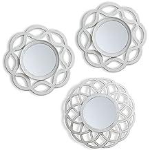 juego de espejos pared blanco