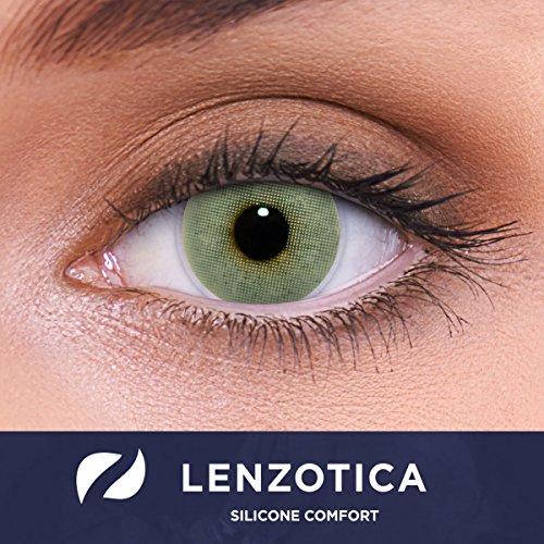 Stark deckende natürliche graue Kontaktlinsen farbig SILICONE COMFORT