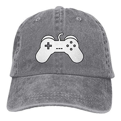 Unisex Baseball Cap Baumwolle Denim Hut Game Controller Konsole einstellbar Snapback Solid Hat DIY 6067