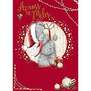 Across The Miles Me To You Carte Blanche Bear Tatty Teddy Christmas Card