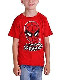 Spider-Man Mask Kinder T-Shirt The Amazing Spider-Man Markenqualität rot Baumwolle
