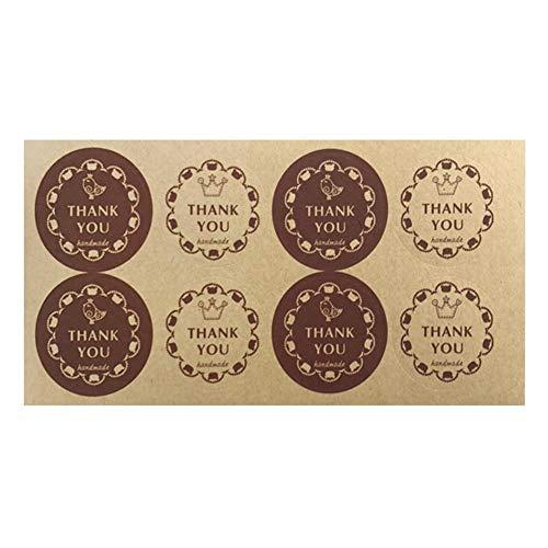 Runde Danke, Aufkleber zu versiegeln, 3,5 cm Umschlag Aufkleber für Hochzeit Gunsten Danke Karte, DIY Geschenkverpackung ()