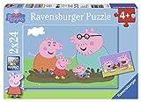 Ravensburger 09082 - Peppa Pig: Glückliches Familienleben, 2 x 24 Teile Puzzle