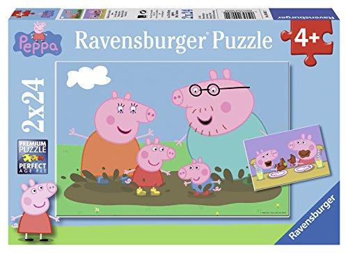 Ravensburger 090822 Peppa Pig Puzzle, 2 x 24