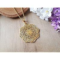 Kette Mandala IIII 925er Silber Vergoldet
