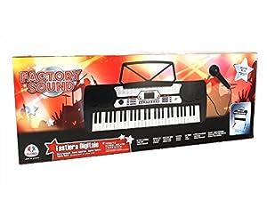 Globo Juguetes Globo-37342Factory Sonido 54-Keys Piano con micrófono/Patas/100Ritmos y 8canción