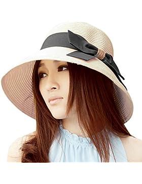 TININNA elegante Bowknot Floppy estate spiaggia Cappello di paglia Cappello da sole Berretto sole Visiera cappello...
