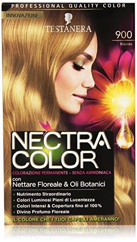Testanera - Nectra Color, Colorazione Permanente, Senza Ammoniaca, 900 Biondo