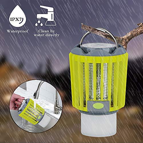 veerkey Lampe à LED 3-en-1Anti-moustiques pour Tente et Camping avec étanchéité IPX6 Vert