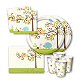 Happi Tree Baby Shower Party Tableware Pack for 16 by The Partyware Shop