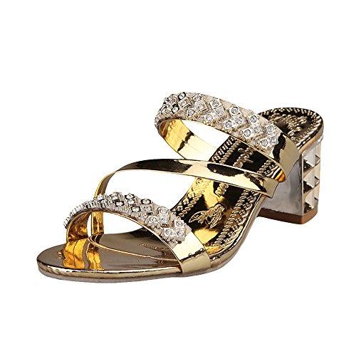 Vectry Sandalen Damen Knöchelriemchen Sandalen Damen Keile Schuhe Espadrilles Absätze Knöchel Gurt Sommer Sandalen (Knöchel Leder Gurt)
