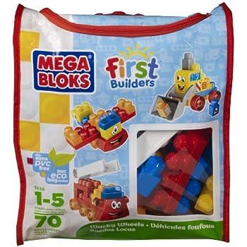 Mega Bloks Wacky Wheels Building Blocks Bag