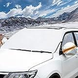 BUG HULL Frontscheibenabdeckung Auto - Windschutzscheibe Abdeckung Zweischicht-Design Für Anti-Schnee/EIS/Frost/Regen, Passt Für Die Meisten Auto SUV 150 x 110 cm by