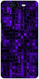 Snoogg Purple Digital 2422 Designer Protective Back Case Cover For Micromax C...
