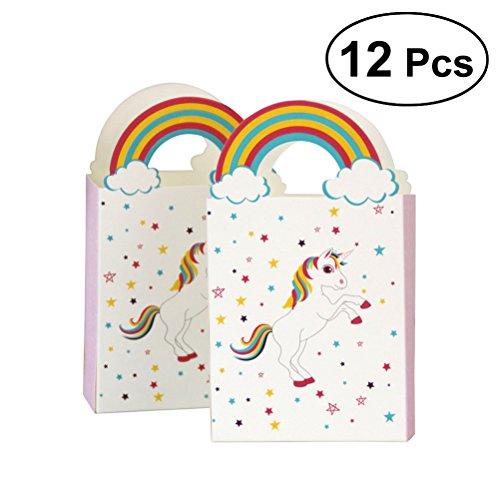 Einhorn Regenbogen Papier Pralinenschachtel Hochzeit Zarten Süßigkeitskästen Schokolade Geschenk Treat Boxen Hochzeit Gunsten ()