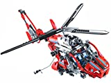 Modbrix Technik Rettungshubschrauber Bausteine Hubschrauber Konstruktionsspielzeug 407 Teile