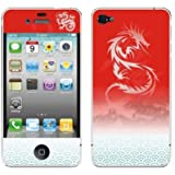 El patrón del dragón Baile Volver Frente protector de la piel para el iPhone 4 4S.