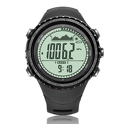 North Edge, Herren Military Multifunktions Digital LED Hintergrundbeleuchtung Armbanduhr Elektronischer Wasserdicht Stoppuhr Alarm Sportuhr, Herren, grau