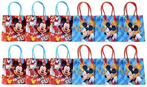 Disney Mickey Mouse Party Favor Goodie Gift Bag - 6 Small Size (12 Packs) by Disney (Favor Mickey Bag)
