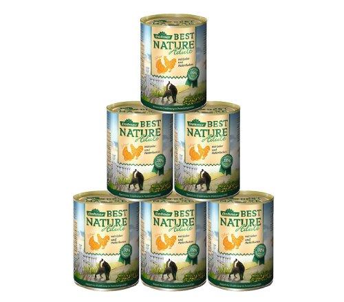Dehner Best Nature Katzenfutter Adult, Geflügel und Leber, 6 x 400 g (2.4 kg)