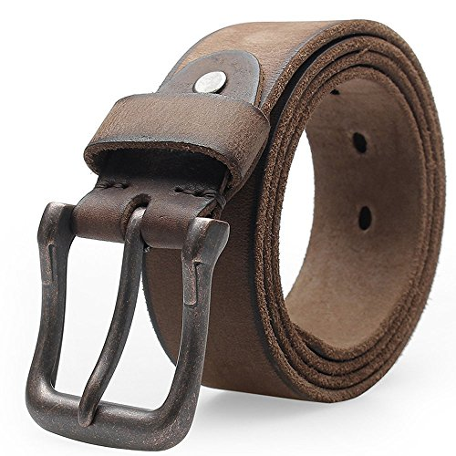 73d1a4b36f3c6e GPP ZZ Men s Leather Belt Full Grain Designer Belt Anti Scratch Pin Buckle  Great for Jeans Casual Wear Work Clothes