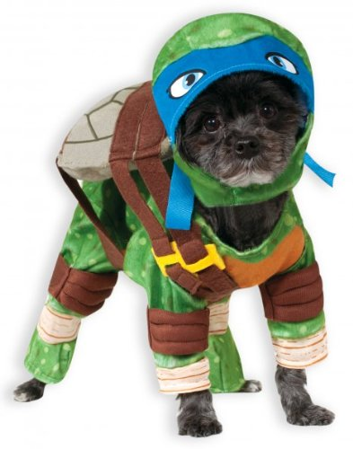 Rubie 's Offizielles Pet Dog Kostüm, Leonardo, Teenage Mutant Ninja Turtles – X-Large (Leonardo Ninja Turtle Kostüm)