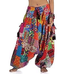 f438b49bb435 Princess of Asia Weite patchwork Hippie Hose Haremshose Aladinhose Pumphose  für Damen und…