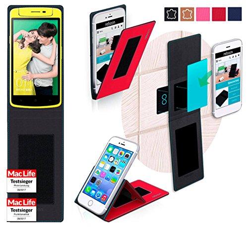 reboon Hülle für Oppo N1 Mini Tasche Cover Case Bumper | Rot | Testsieger