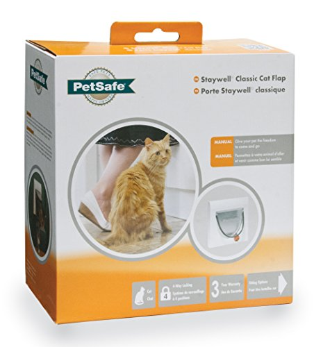 PetSafe 917EF Staywell Manual 4-Way Locking Classic Cat Flap with Tunnel
