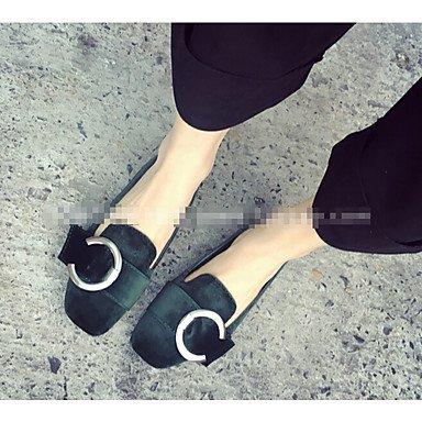 Confortevole ed elegante piatto scarpe donna tacchi altri Esterno in similpelle nero grigio verde Borgogna Green