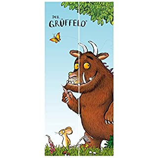 Kindertapeten Vliestapete Tür Premium Grüffelo Folgt der Maus, Größe HxB: 215cm x 96cm