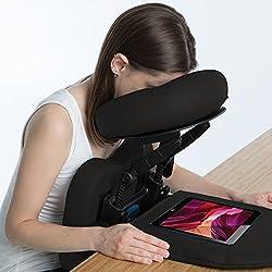 EARTHLITE Travelmate Accessoire pour table de massage - kit de massage têtière et dessus de table, équipement pour récupération post-vitrectomie