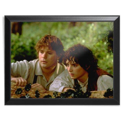 Herr der Ringe - Frodo und Sam im Auenland Wandbild, 12x23cm (Frodo Und Sam Kostüm)