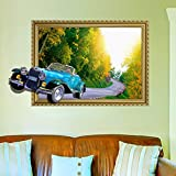 ALLDOLWEGE Fresh and fabulous off car wall sticker wall panel hostel dormitory room decorations posters self adhesive,3DClassic Cars