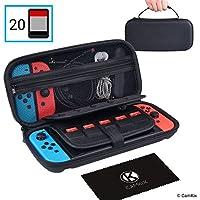 CamKix Estuche para Nintendo Switch – Protege su consola de Nintendo Switch, Joy Cons, juegos y accesorios – Almacenamiento de funda protectora dura y bolsa/bolsa de viaje – Se adapta a 20 juegos