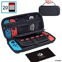 CamKix Estuche, compatible con Nintendo Switch - Protege su consola Nintendo Switch, Joy Cons, juegos y accesorios - Funda protectora dura y bolsa de viaje - Se adapta a 20 juegos