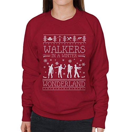 Winter Wonderland-sweatshirt (Walkers In A Winter Wonderland Christmas Knit Women's Sweatshirt)